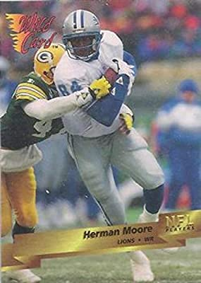 Football NFL 1993 Wild Card #119 Herman Moore #119 NM Lions
