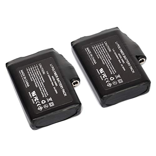 Rechargeable 7.4V 2200mAh Lithium Polymer Batteries for Heated Gloves Socks Jacket Cloths Pack of 2