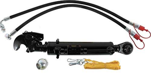 Hydraulischer Oberlenker Kat. 2-2 mit Fanghaken, Kugelauge, Skala, Steuerseil und 2 Hydraulikschläuchen - Hub 240 mm, Arbeitsbereich 580-820 mm