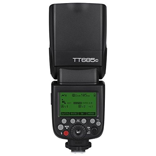 Godox TT685C TTL Flash Camera Flash Speedlite, 2.4G HSS 1 / 8000s TTL GN60 Flash electrónico Compatible con Las cámaras Canon EOS