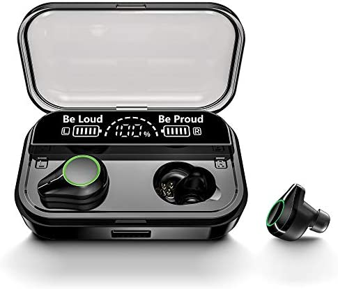 HOT SMART T-10 Earbuds,True Wireless Earbuds with CVC 8.0 Noise Reduction,Bluetooth Headphones, IPX7 Waterproof Wireless Headphones, Bluetooth Earbuds with 4000mAh Charging case,LED Display