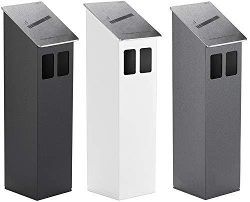 Zaunaschenbecher Aluminium Zaunmontage in drei Farben Anthrazit