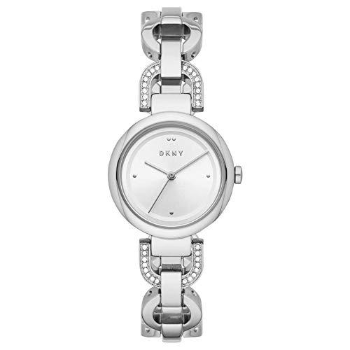 DKNY Damen-Uhren Quarz One Size Silberfarben Edelstahl 32012025