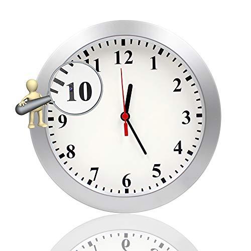 Newwings - Reloj de pared con cámara oculta para cámara espía y cámara de niñera con detección de movimiento PIR, cámara espía de seguridad para interiores para el hogar y la oficina, sin función WiFi
