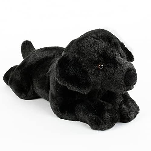 Uni-Toys Peluche de perro labrador negro 40 cm tumbado