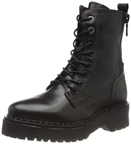 Dockers by Gerli 45at202, Botas Militar Mujer, Negro (Schwarz 100), 39 EU