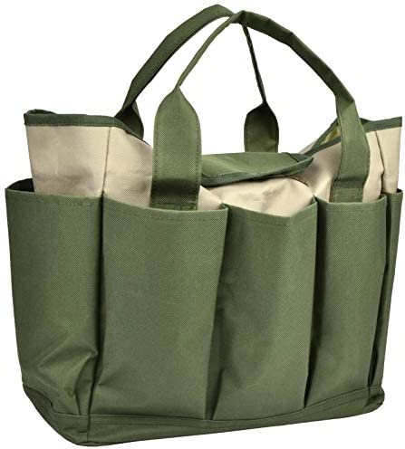 Garden Tool Bag Canvas Heavy duty Garden Tote With Pockets Large Organizer Bag Carrier Gardening product image