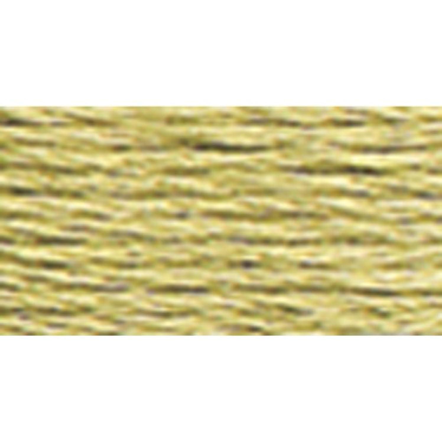 DMC 117-372 Mouline Stranded Cotton Six Strand Embroidery Floss Thread, Light Mustard, 8.7-Yard
