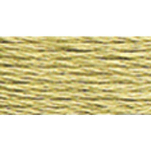 DMC 117–372 Mouline gestrandd katoen zes strand borduurdraad, licht mosterd, 8.7-yard