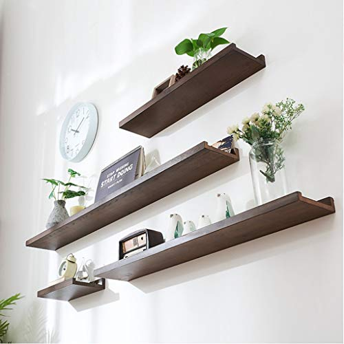 Estantes de pared flotante, estante de repisa de exhibición, estante de exhibición de montaje en pared, estantes de pared de madera maciza Decorativo for el hogar W: 15cm L: 30cm / 60cm / 90cm / 120cm