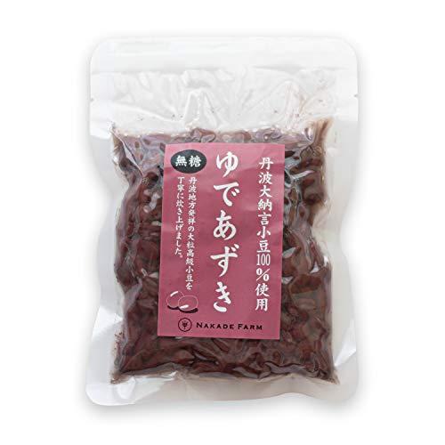 [なかでファーム] NAKADE FARM 丹波 大納言 小豆 100%使用 ゆであずき 無糖 無添加 国産 化学調味料 添加物 不使用 180g