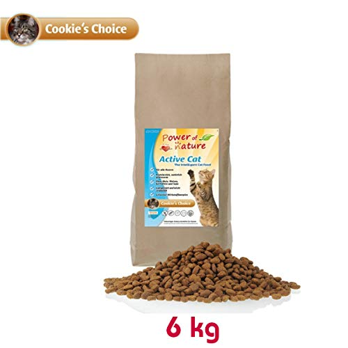 Power of Nature 6 kg Natural Cat Cookies Choice Katzenfutter Trockenfutter Huhn glutenfrei