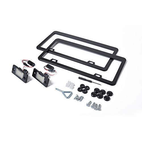 Asdomo License Plate Frame Replacement Set for Porsche Cayenne License Plate Light