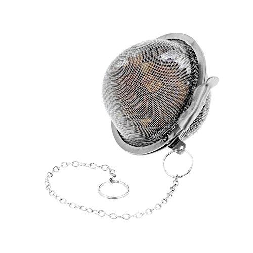 "U.S. Kitchen Supply - 2 Premium Stainless Steel Tea Ball Strainer Infusers - 2.1"" Size with Extra Fine Mesh - Steep Loose Leaf Tea, Herbal, Spices & Seasonings - Teapot, Tea & Coffee Cup Mug"