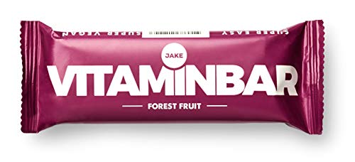 Jake Forest Fruit Vitaminbar 80 x 85 g Bars │ Vegan Meal Replacement Bar, Plant-Based, Nutrient Dense, High Protein, Nut-Free, Lactose-Free