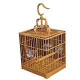 hkwshop Jaula para Mascota Birdcage Cuadrado Baño de plástico Jaula Finch Pájaro Myna Parrot Portable Colgante Jaula de pájaro con Vara de pie y Taza de alimentación Jaula para Pájaros (Color : B)