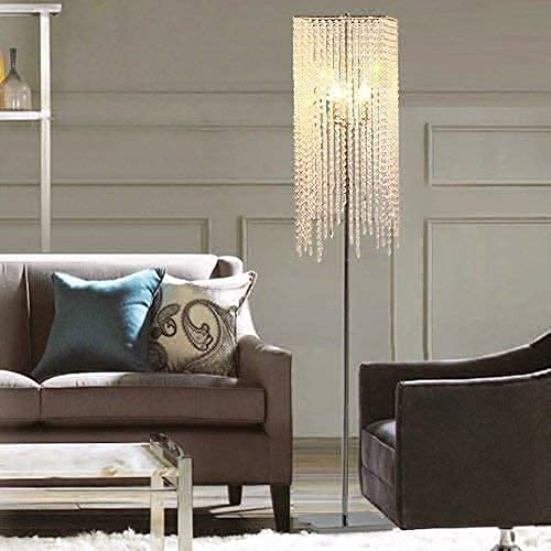 Luces de Piso Lámpara de Piso Led Sala de Estar Creativa Dormitorio Mesita de Noche Personalidad Moderna Cristal,