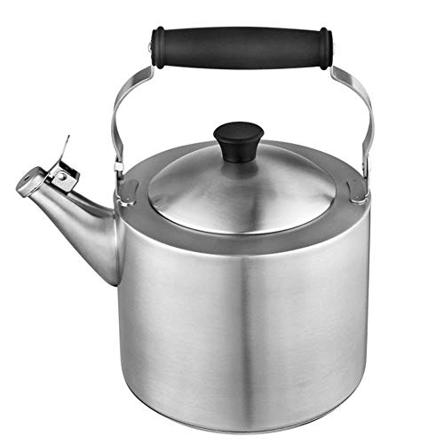 Amuzocity 2.5L 3L 4L Whistling Kettle Tea Coffee Teapot Kitchen Camping Acero Inoxidable Plata tal como se describe