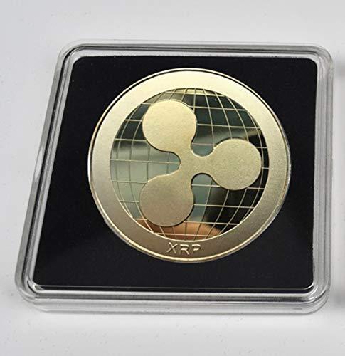 HJKND Moneda de bit de Bitcoin chapada en Oro Moneda de Metal...