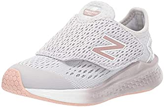 New Balance Kid's Fresh Foam Fast V1 Hook and Loop Running Shoe, Summer Fog, 7 W US Toddler