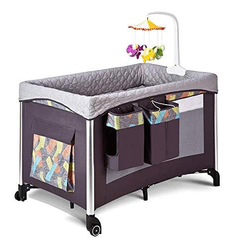 Draagbare Baby-bed, Opvouwbaar Multi-functie van de baby Play Bed, geschikt for 0-3 jaar oud, One-Tweede Vouw Reisbedje Portable Pasgeboren baby