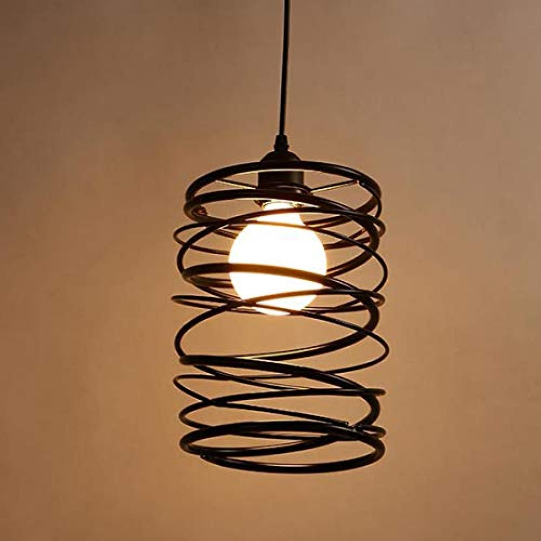 CEILINGLIGHTLEDLHde YWXLight Home Lighting Moderne Kreative Einfache Schwarze Metall Restaurant Pendelleuchte