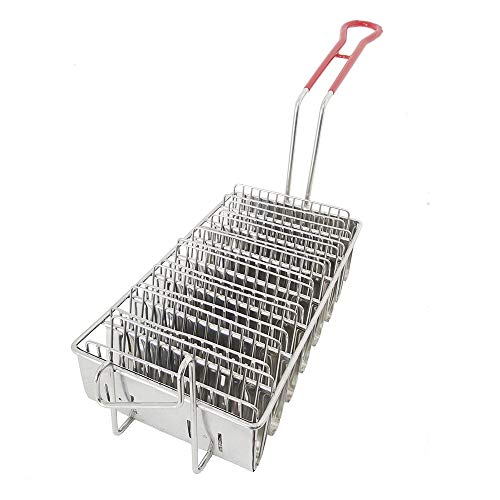 Pronto Commercial Stainless Steel Taco Shell Fry Basket (cooks up to 8 tacos at a time)