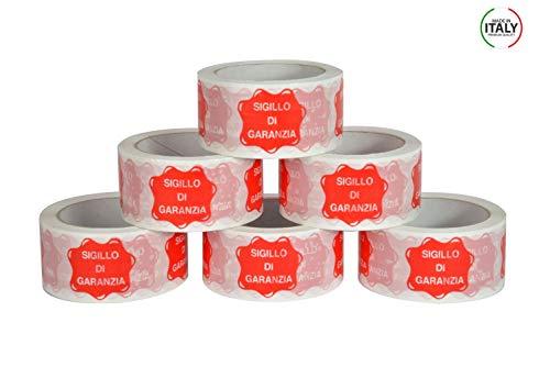 Scocht Klebeband mit Garantie-Siegel bedruckt für Verpackung Pakete – 50 mm x 66 m – 6 Rollen Scocht