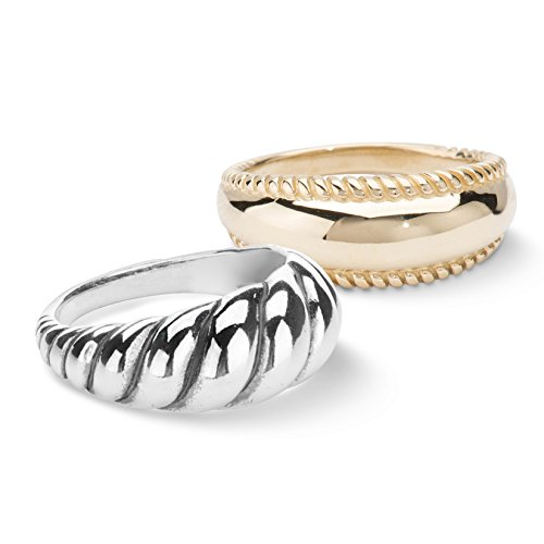 Carolyn Pollack Sterling Silver Brass Ring Insert Set,  size 7