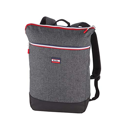 Rada Rucksack RS/36, Freizeitrucksack mit Laptop Tablet Fach, DIN A4 Ordner kompatibler Daypack für Mädchen und Jungen, wasserabweisender Daypack, Damen und Herren, Freizeit (Grey Sports)