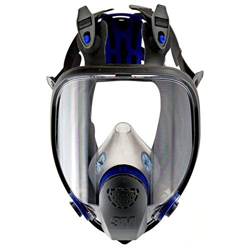 """3M FF-402 Medium Ultimate FX Full Face Reusable Respirator with Scotchgard Lens Coating and Bayonet Connection, English, 15.34 fl. oz, Plastic, 9.9"""" x 5.6"""" x 8.1"""""""