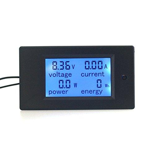 KETOTEK Amperemeter Digital Voltmeter Spannungsprüfer LCD Volt DC 20A 6,5-100V Voltmeter Volt Ampere Multimeter (DC 6.5-100V 0-20A)