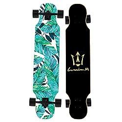 スケートボード スケートボードのロングボードは、初心者やプロ向けのフリースタイルクルージングカービングソフトホイールを踊るための42インチ/ 46インチを完成させます スポーツ アウトドア