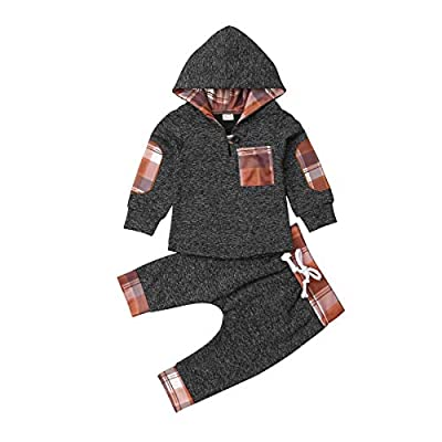 Amazon - 50% Off on  Toddler Boy Infant Baby Fall Winter Long Sleeve Dinosaur Hoodie Pant Set Clothes