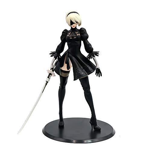 XUEKUN NieR: Automata Yorha No.2 Typ B Action-Figur Statue Modell 28cm-Standing-Girl-Yorha No.2 Typ B Animierte Charaktere Skulptur Souvenir Puppet Yorha No.2 Type B