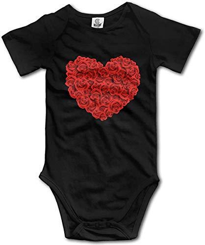 WlQshop Mono para Bebé,Mameluco Bebé Unisex Good Morning Rose Newborn Baby Girl Clothes Short Sleeve Infant Cotton Bodiess