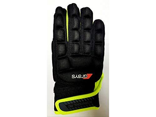 Grays Unisex-Handschuhe International Pro Rechts, Schwarz/Fluo Gelb, Größe S