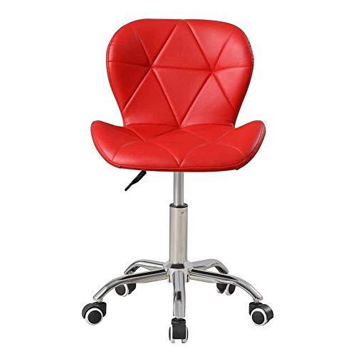 Daily Equipment Beauty Chair Silla de barbero Silla de Oficina giratoria de Cuero sintético para Oficina en casa Escritorio de computadora de PU Ajustable Silla pequeña Sillas de Mariposa (Color: N