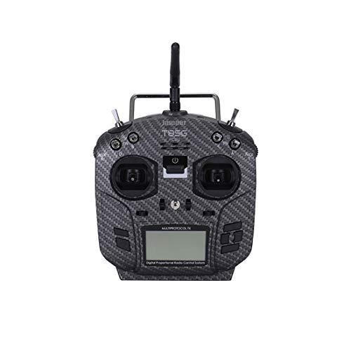 "Jumper T8SG Plus V3 Hall Gimbal Multi-Protocol 2.42"" LCD Radio Transmitter Remote Control Carbon Fiber Flysky Frsky Racing Drone (Mode 2)"