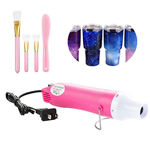 Bubble Buster Tool for Making Epoxy Glitter Tumblers Specially-Made Drying Tool for DIY Acrylic Resin Cups Tumblers Shrink Wrap Package Remove Air Bubbles Melt Seal Wax Dry Crafts (Pink)