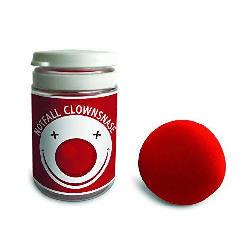 Monsterzeug Notfall Clownsnase, Rote Nase aus Schaumstoff, Kostüm für Karneval und Fasching - 5 cm Durchmesser