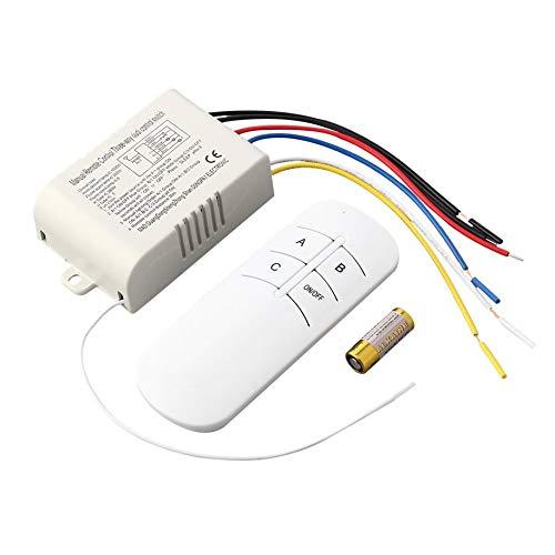 Anam Safdar Butt Interruptor de Control Remoto RF Digital de 3 vías ON/Off Popular de 220 V inalámbrico para lámpara de luz Interruptor Blanco antiinterferencias