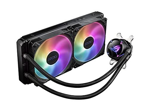 ASUS ROG Strix LC II 280 ARGB All-in-One CPU-Wasserkühlung (Aura Sync, zwei adressierbare ROG-140mm-Radiatorlüfter)