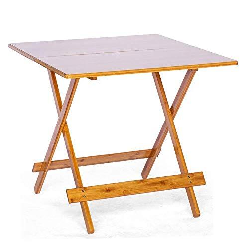 Tägliche Ausrüstung Picknicktisch Klappbarer Esstisch Kleiner Beistelltisch Wohnzimmer Büro Schlafzimmermöbel Butler Tisch Einfache Montage (Farbe: Foto Farbe Größe: 68,5 x 68,5 x 66,5 cm)