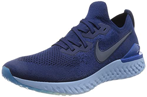 Nike Epic React Flyknit 2, Scarpe Uomo, Blue Void Indigo Force Black, Taglia Unica EU