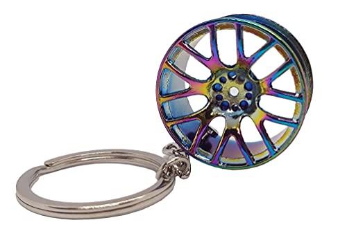 Llavero llanta deportivo racing elegante rueda de coche color Cromado especial