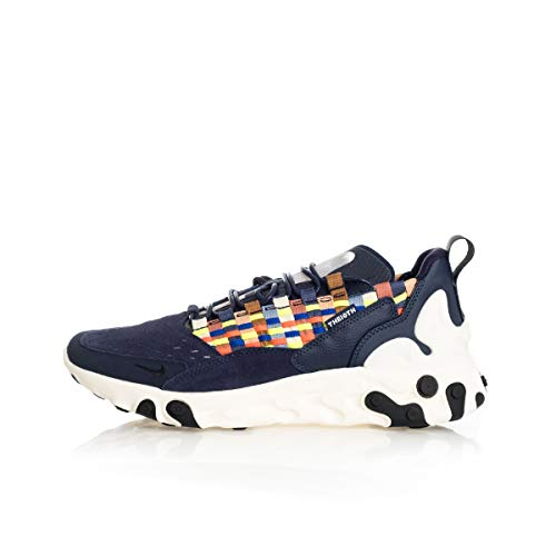 Nike Herren React SERTU Laufschuh, Blackened Blue Black Sail, 44 EU