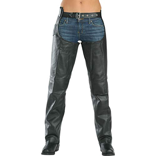 Xelement 7553 Women's Black 'Advanced Dual Comfort' Leather Chaps - 6