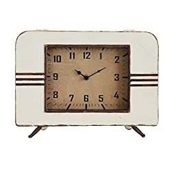 Creative Co-op Retro Metal Mantel Clock