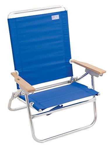Rio Beach 4-Position Easy in-Easy Out Folding Beach Chair - Blue